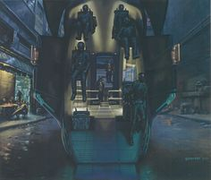 Minority Report concept artwork by Mark Goerner
