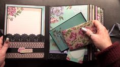 some special lady asked me about a page a had made on my scrapbook mini album in a box named cigar box . this page i was inspired with a video a saw on youtu. Mini Photo Albums, Mini Albums Scrap, Mini Scrapbook Albums, Scrapbook Pages, Tutorial Scrapbook, Paper Bag Album, Mini Album Tutorial, Scrapbook Journal, Album Book