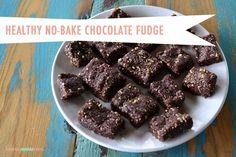 Healthy No-Bake Chocolate Fudge