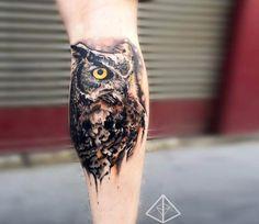Owl tattoo by Trudy Lines Tattoo