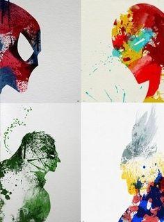 Marvel. Spider-Man, Iron Man, The Hulk, & Thor