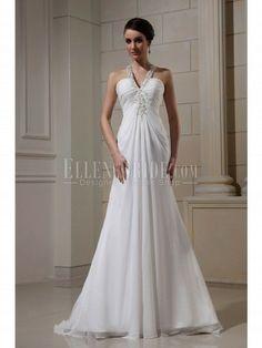 Trumpet/Mermaid Bateau Court Train Chiffon Wedding Dresses