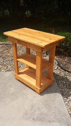 Unique Primtiques Multi Functional Tall Table Autumn Oak Stain Kitchen Island Bench W Center Shelf Custom Sizes Colors Available Easy Woodworking Projects, Woodworking Furniture, Pallet Furniture, Diy Pallet Projects, Simple Wood Projects, Woodworking Basics, Woodworking Store, Woodworking Books, Woodworking Workbench