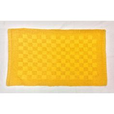 Reversible Double Ruila Cotton Mat - Yellow (50cm x 80cm) - Mode Alive - Home Decor Heaven