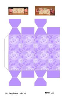 Photo only - cute pale purple box template that looks like a Christmas cracker