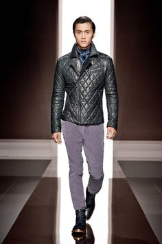 Boss leather coat, I want it in a dark red wine color or black.