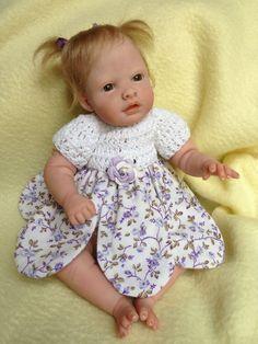 OOAK Prosculpt polymer clay newborn/toddler baby girl sculpt not toy art doll