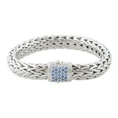John Hardy bracelet with sapphire clasp