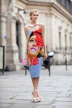 Fall 2012 Couture Street Style: This girl gives good face.