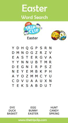 Make Easter themed word search puzzles - you can make them easy for young kids, or harder for older ones!