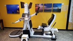 Most of my session at OsteoStrong took place on a single computerized machine with stations for maximal efforts at deadlift and chest, core, and leg presses. Fitness Tips, Health Fitness, Bear The Burden, Bone Strength, Weight Machine, Bone Density, Leg Press, Bone Health, Above And Beyond