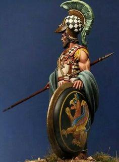 Athenian hoplite, 5th century, BCE.