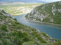 Zrmanja upstream from Obrovac