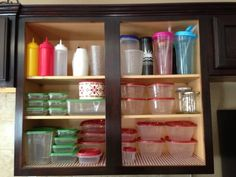 Tupperware organization  #KitchenCabinets