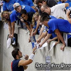 Signing autographs for the opposing team :)