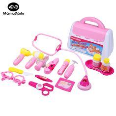 15 unids/set kit médico infantil toys para niños niñas de función play pretend play doctor play set classic toys simulación hospital