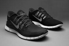 Nike Free 5.0+ - Mens Running Shoes - Black-Metallic Dark Grey-White-US 7#TOP5 #PDSmostwanted