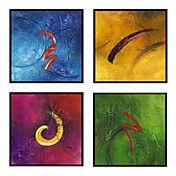 pintados a mano, pintura al óleo abstracta co... – EUR € 57.74