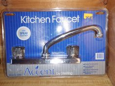 NEW Sterling Accent Chrome Color Kitchen Faucet #26850 MADE USA Brass Waterway