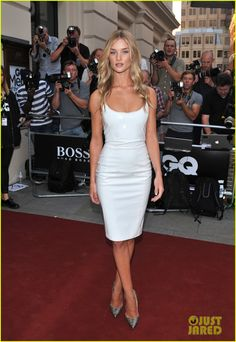 Rosie Huntington-Whiteley on the red carpet at the 2013 GQ Men of the Year Awards in London, England. #Hollywood #Fashion #Style