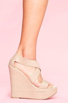 First Round-Nude Wedges