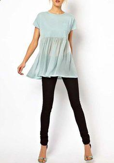 Cute top with leggings or skinny jeans