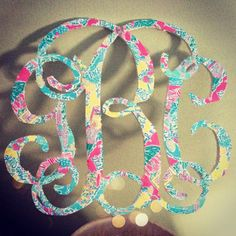 Monogram in Lilly print