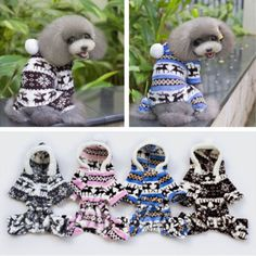 Pet-Dog-Puppy-Cute-Warm-Winter-Soft-Sweater-Hoodie-Jumpsuit-Coat-Clothes-Outwear