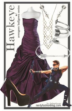 I would totally wear this. This system of basing an outfit off a fictional character could really work well and conveniently for easy prom/formal dance decisions. Marvel Inspired Outfits, Character Inspired Outfits, Fandom Fashion, Geek Fashion, Disney Fashion, Disney Outfits, Cute Outfits, Dress Code, Hawkeye Avengers