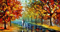 Original Recreation Oil Painting on Canvas  This is the best possible quality of recreation made by Leonid Afremov in person    Title: Romantic
