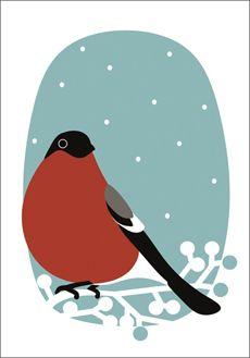 MLL -Punatulkku joulukortti 2013- Anniina Isokangas