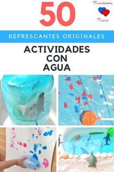 50 Actividades con agua + Imprimible Juego de Pesca – Montessori Mami Summer Kids, Boy Or Girl, Education, Birthday, Party, Aquaman, Kawaii, Home, Sun