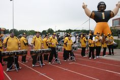 Impact Percussion playing at Black & Gold Practice in Burlington 2011
