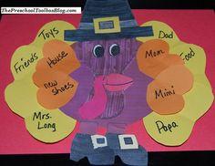 Thankful Pilgrim Turkey Craft for Preschool and Kindergarten | The Preschool Toolbox Blog