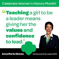 Join us as we honor Anna Maria Chávez, the first Latina CEO of Girl Scouts of the USA!