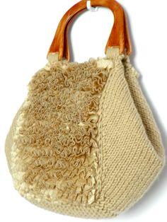 OFF 15% NzLbags New - Samba Perfectly Beige - Camel Knit Bag, Handbag & Shoulder…
