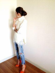 Ungridのピアス(両耳用)「【Lady like】シフォンコンビビジューピアス」を使ったAkikoNakamuraのコーディネートです。WEARはモデル・俳優・ショップスタッフなどの着こなしをチェックできるファッションコーディネートサイトです。