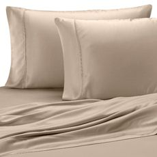 PURE BEECH SATEEN SHEETS...These sheets are the BEST! I own 3 colors. (Champagne, Olive and Red) They wash up fabulous (no pilling/color loss) and are so silky and cool. Great for both winter and summer. Haven't found anything I like better so far. Enjoy!