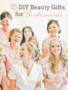 15 DIY Beauty Gifts for Bridesmaids | SouthBound Bride www.southboundbride.com/diy-beauty-gifts-for-bridesmaids Image: Onelove Photography via Style Me Pretty