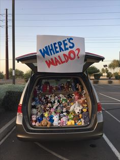 Trunk or Treat Halloween Kids, Halloween Crafts, Halloween Party, Halloween Decorations, A Pumpkin, Pumpkin Spice, Truck Or Treat, Wheres Waldo, Fall Fest