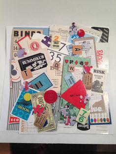 45 pc. Mixed Media Ephemera Game Scrap Pack, Vintage Paper Game Theme Ephemera Pack for Collage, Altered ARt on Etsy, $8.50