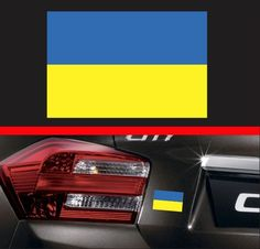 4  Ukrainian Flag Vinyl Decal Bumper Sticker Ukraine Self Adhesive Macbook Car