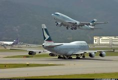 The now extinct cathay pacific 747