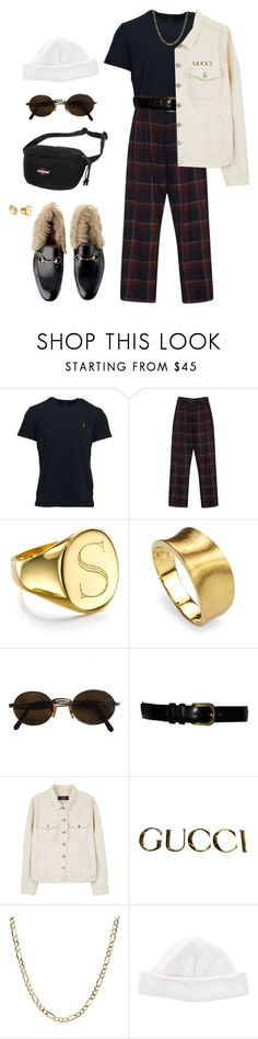 """""""Untitled #294"""" by uraveragestyle ❤ liked on Polyvore featuring Polo Ralph Lauren, SUNO New York, Sarah Chloe, Marco Bicego, Moschino, Yves Saint Laurent, Violeta by Mango, Gucci, Acne Studios and Eastpak"""
