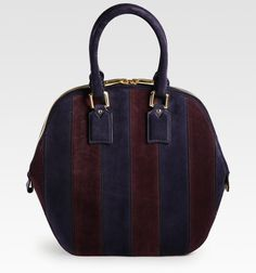95ea7403b26e Burberry Orchard Medium Striped Suede Tote - Lyst Burberry Prorsum