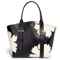 Alexander Mcqueen 'Legend' small floral patchwork leather shopper tote