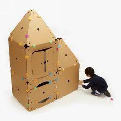 Recycled Cardboard Kids House