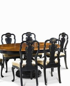 queen anne dining table hand painted frenchthetradingcompany