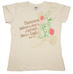 Camiseta Baby Look Isaías 35.2 - Palavra de Paz Produções