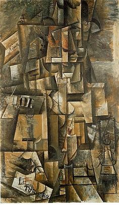 Pablo Picasso - 009 The amateur (L'Aficionado) Analytical Cubism 1912 Oil on canvas 135 cm x 82 cm Kunstmuseum, Basel, Switzerland Kunst Picasso, Art Picasso, Picasso Paintings, Georges Braque, 20th Century Painters, Cubist Art, Cubist Movement, Spanish Painters, Impressionism